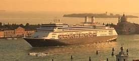 Holland America Line-Rotterdam cruise ship in Venice