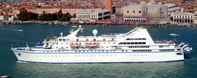 Le Diamant ship in Venice