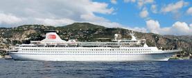 Aquamarine cruise ship