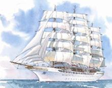 Sea Cloud Hussar sailing ship