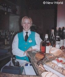 Cruise ship bar waitress